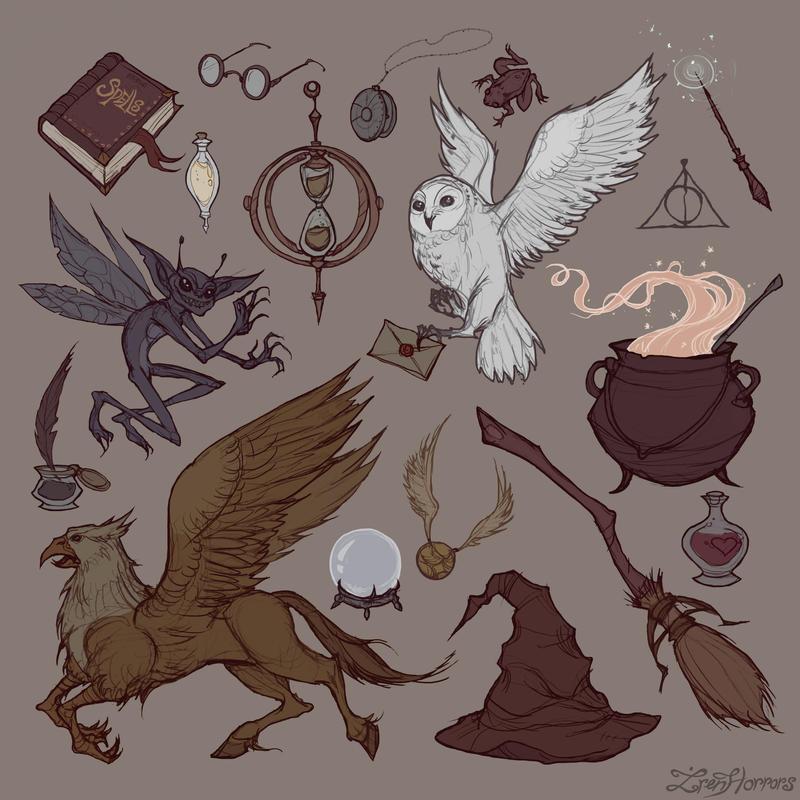 Hogwarts pattern by IrenHorrors