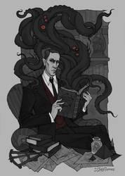 H.P. Lovecraft by IrenHorrors