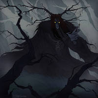 Creeping darkness by IrenHorrors