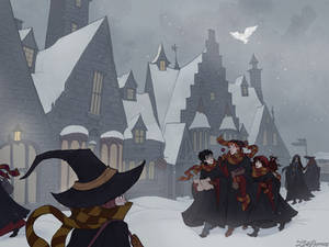 Snow Day in Hogsmeade