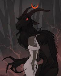 Drawlloween Goatman by IrenHorrors