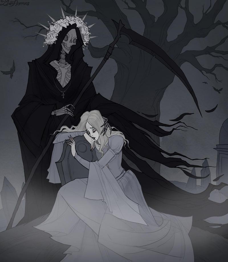 Drawlloween Grim Reaper by IrenHorrors