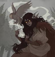 Drawlloween Owl by IrenHorrors