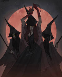 Drawlloween Blood Moon by IrenHorrors