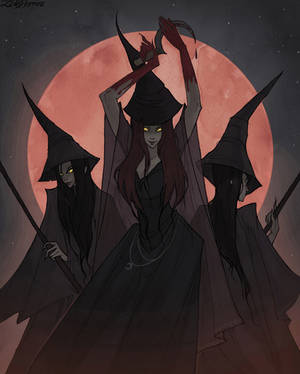 Drawlloween Blood Moon by IrenHorrors