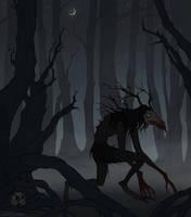 Drawlloween Dark Forest by IrenHorrors