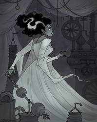 Drawlloween Bride by IrenHorrors