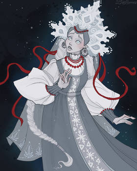 The Snow Maiden by IrenHorrors