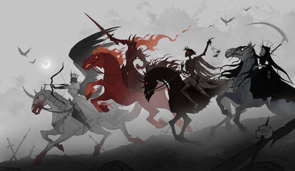 Four Horsewomen of the Apocalypse by IrenHorrors