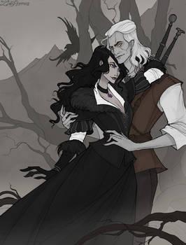 Geralt and Yennefer