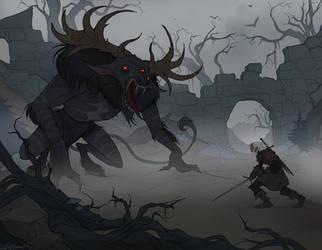 Morvudd Hunt by IrenHorrors
