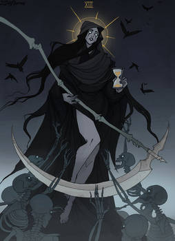 Drawlloween Tarot: XIII Death