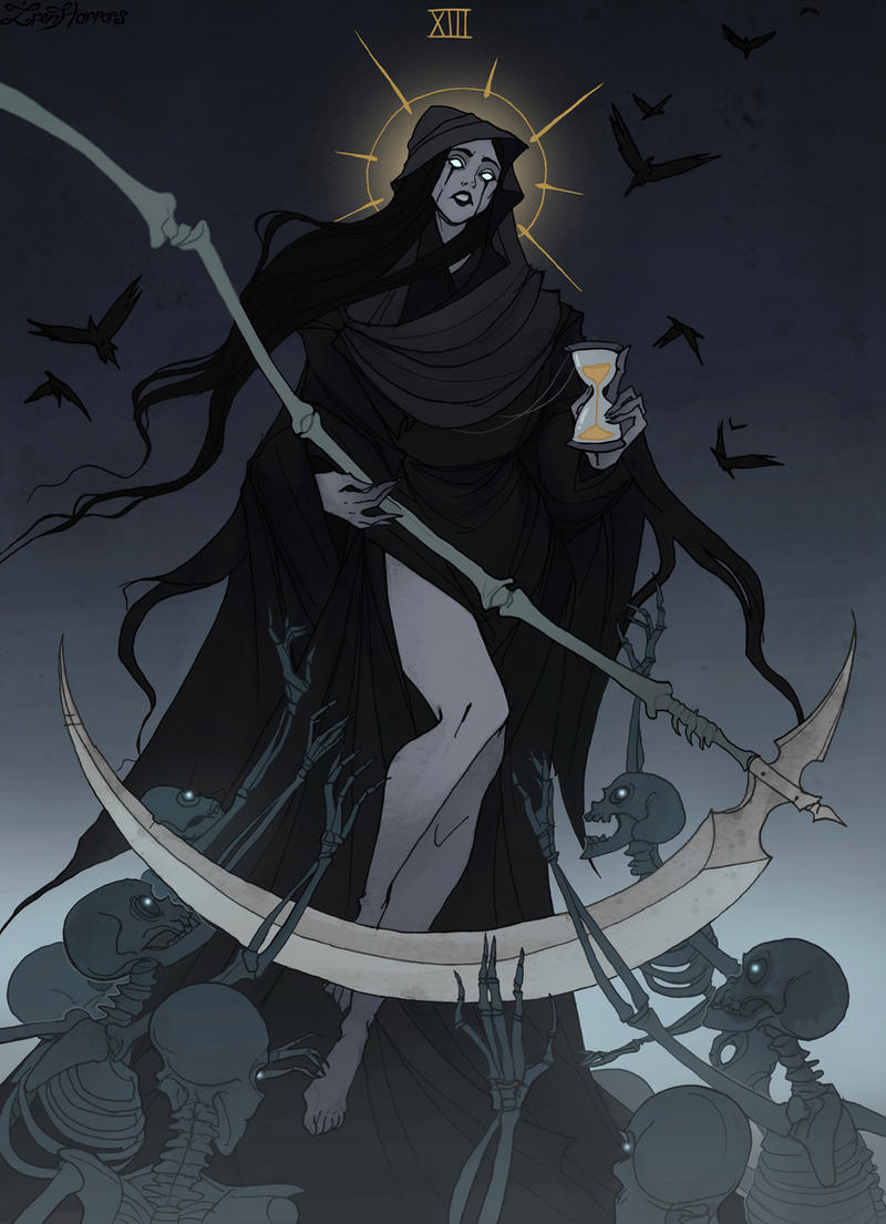 Drawlloween Tarot: XIII Death
