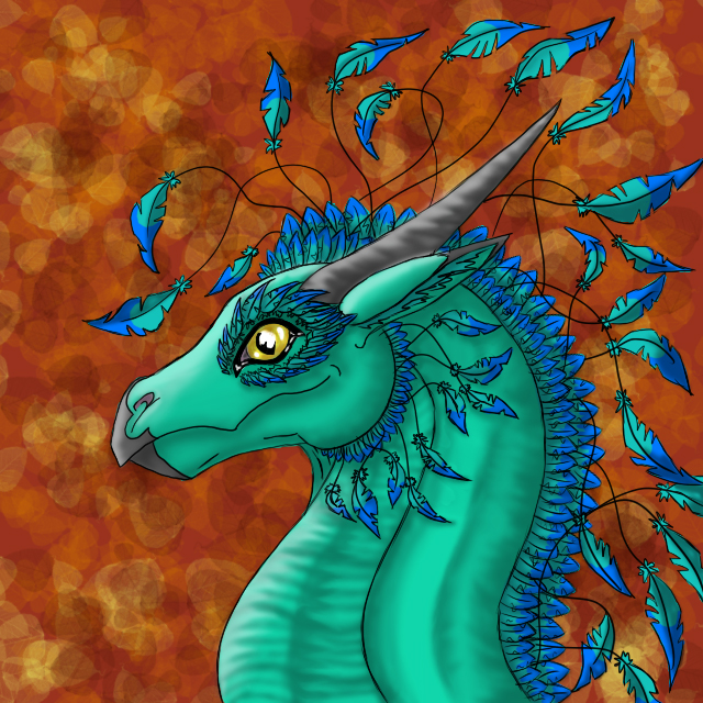 Feather dragon by Tsharek