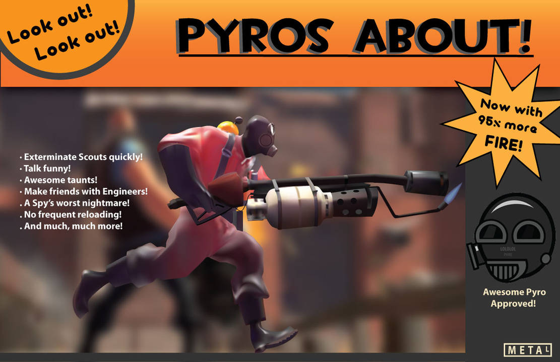 Pyro Poster by MetalLink