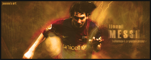 Lionel Messi Sign by Juanme