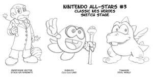 Nintendo All-Stars 3 Sketches