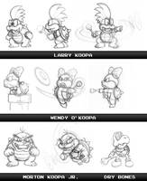 Sketchy: Koopa Kids by fryguy64