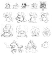 Sketchy: SMB2 Enemies by fryguy64