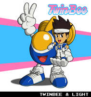 Twinbee and Light by fryguy64