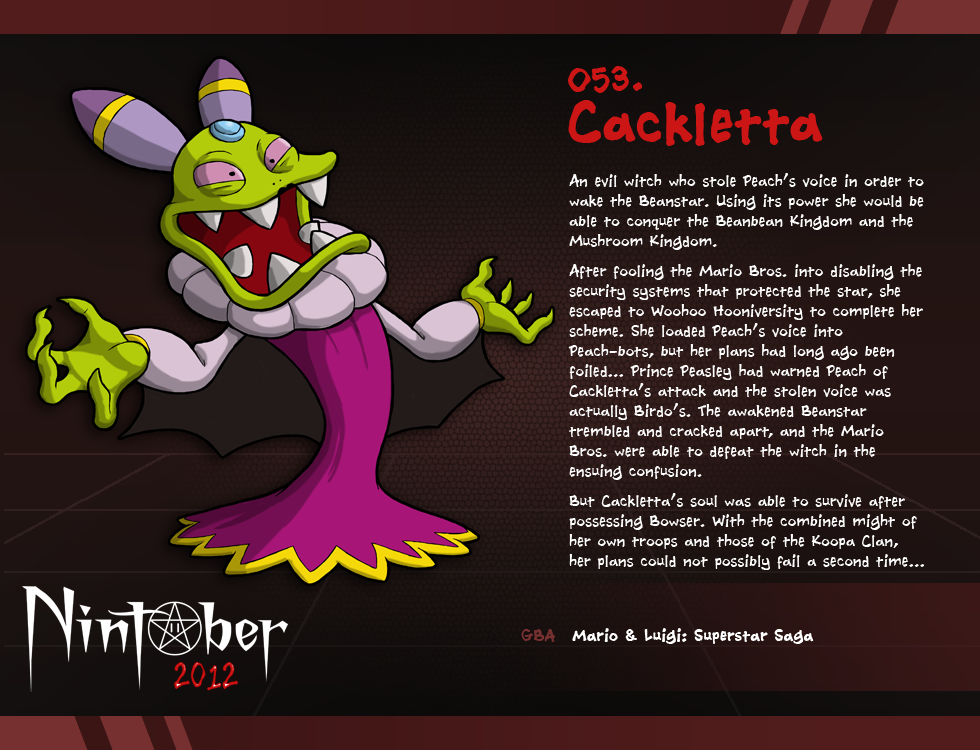 Nintober 053 Cackletta By Fryguy64 On Deviantart