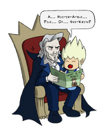 NF Magazine: Dracula and Alucard by fryguy64