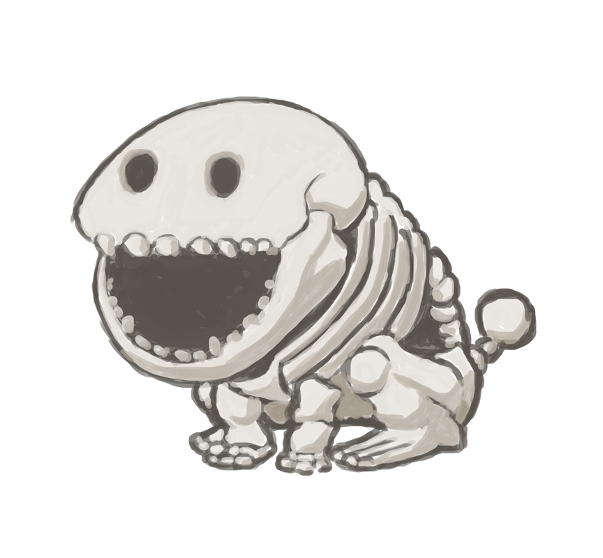 Scary Skeleton Poochy by fryguy64