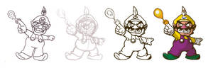 Re-Drawing Fire Wario