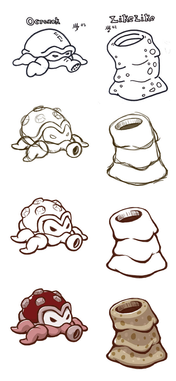 Re-Drawing Octorok and Like-Like