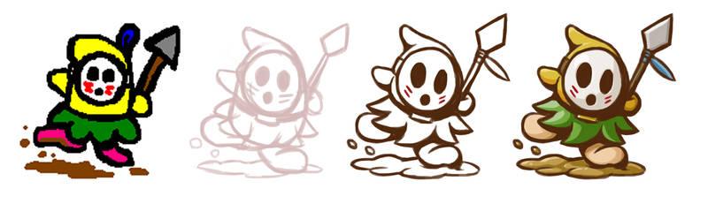 Re-Drawing Dancing Spear Guy