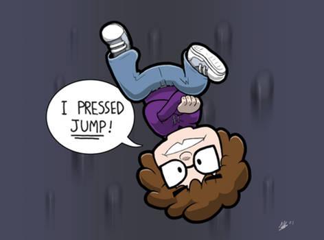 MRRKNIGHT Birthday Art: I Pressed Jump