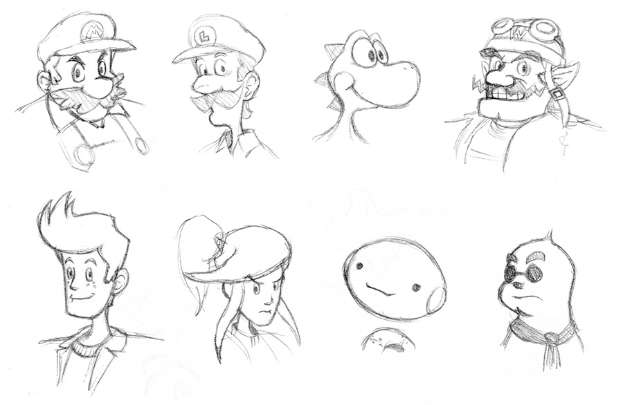 Nintendo Headshots by fryguy64