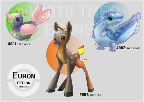 Pokemon Euron Region Starters
