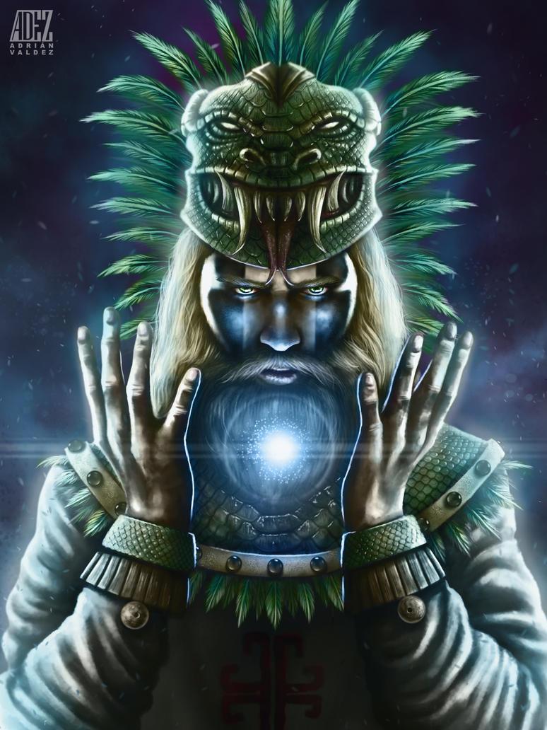 Quetzalcoatl-The white man by ADRIANVALDEZ