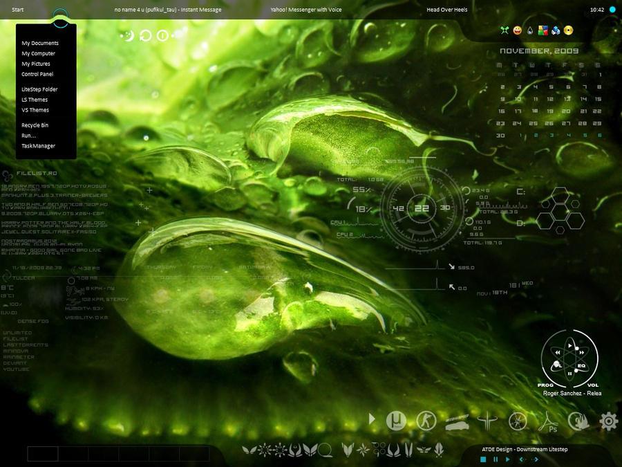 desktop green by Burnwell88