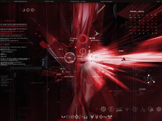 my desktop red