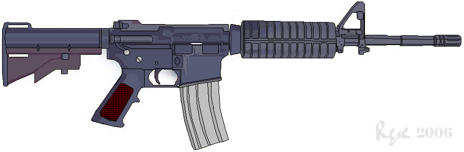 M4 Rifle Vector [EPS File] - accuracy, American, amerikan, ar-15 ...