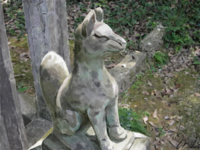 The Stone Fox in a Shrine by mkcs