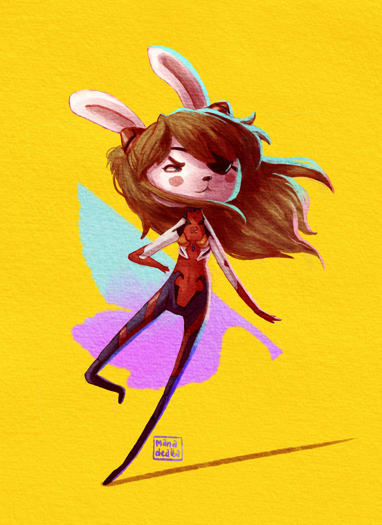 Neon Genesis Bunny Warrior by Manawua