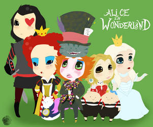 Alice in Wonderland by Iddle-Diddle