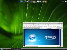 My Vista desk by skingcito