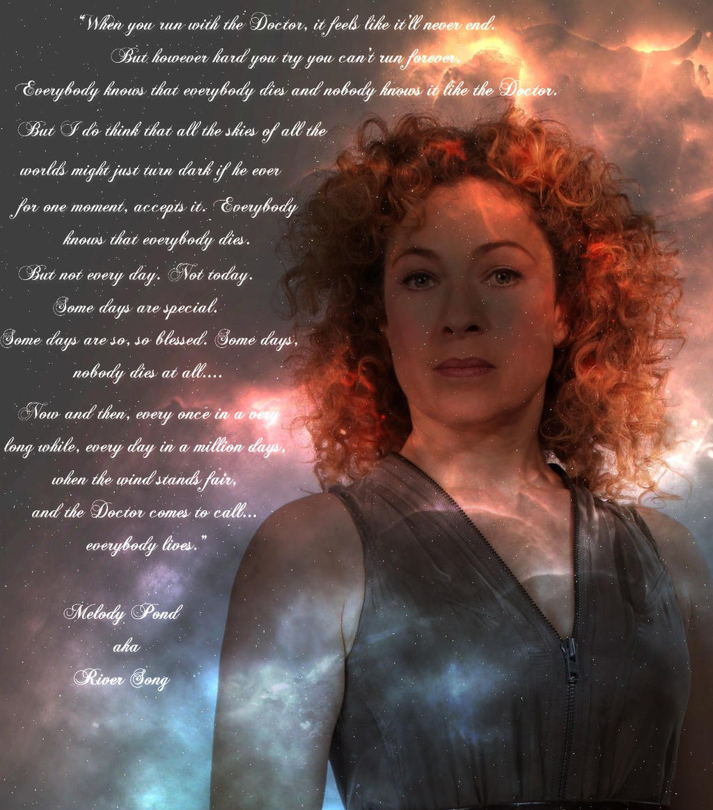 River Song Run With The Doctor By Who Quotes Kid Com Image