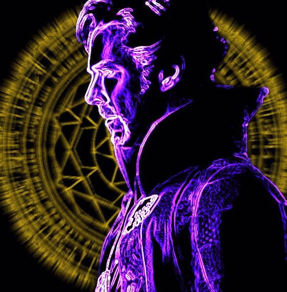 Doctor Strange Neon 1 by VulcanSarek22