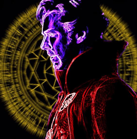 Doctor Strange Neon 2 by VulcanSarek22