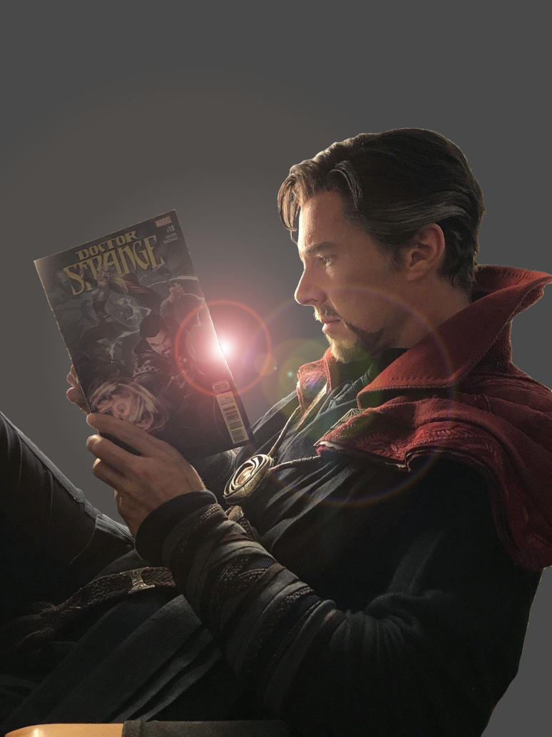Doctor Strange jpg grey by VulcanSarek22