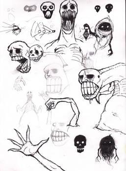 Zelda nightmares sketch 3