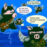 Flying Ninja Pigs by starchasr2737