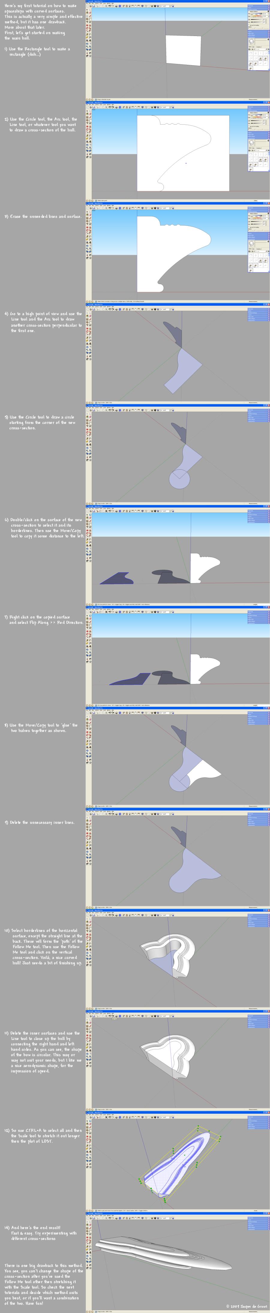 Spaceship Hull Tutorial Pt 1 by Ywander