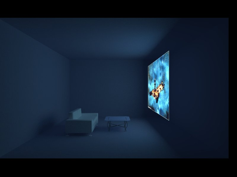 Vray emmisive materials / Big Ass TV Test by Ywander on