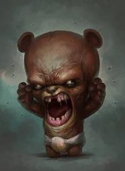 Tiniest Angriest Bear by Snugglestab